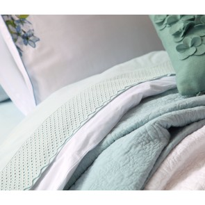 Lucia Seafoam European Pillowcase Set by MM Linen