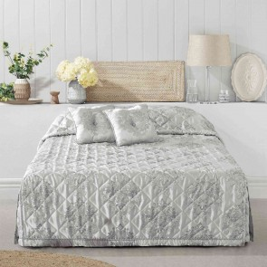 Tanaquil Bedspread Silver by Bianca