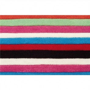 Teens Rainbow Stripes Kids Rug by Unitex