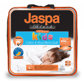 Kids Natural Cotton Fibre Single Quilt by Jaspa Black