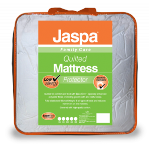 Quilted for comfort and filled with ExcelFibre® - specially enhanced polyester fibres promoting good health and restful sleep.  Fully elasticised 40cm skirting to fit all types of beds and reduces movement on the mattress.  Covered with high quality cotto