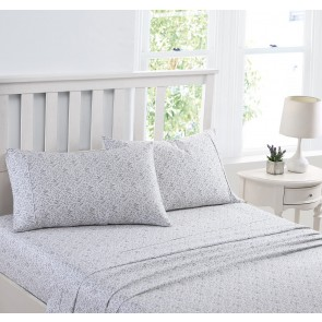 Tierney Sheet Set in Blue Pearl by Laura Ashley