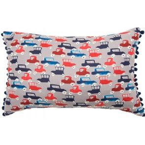 Traffic Jam Breakfast Cushion by Lullaby Linen
