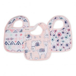Trail Blooms 3-Pack Snap Bibs by Aden and Anais