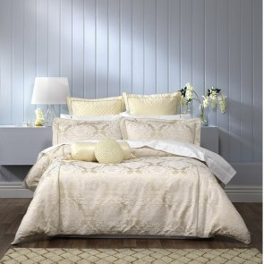Trieste Ivory Quilt Cover Set by Bianca