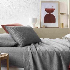 Sentosa Yarn Dyed Linen Sheet Set by Vintage Design