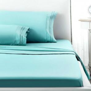 1800TC Ultra Soft 4 Pieces Flat Fitted Sheet & Pillowcase Set