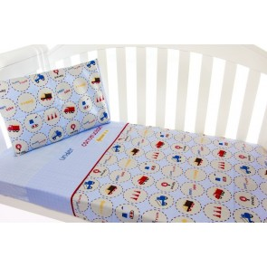 Under Construction 3 Piece Cot Sheet Set by Amani Bebe