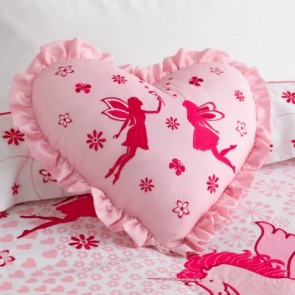 Unicorn Heart Shaped Filled Cushion by Whimsy