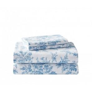 Vanessa Soft Blue Flannelette Sheet Set by Laura Ashley