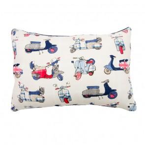 Vespa Breakfast Cushion by Lullaby Linen