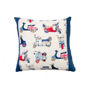 Vespa Square Cushion by Lullaby Linen
