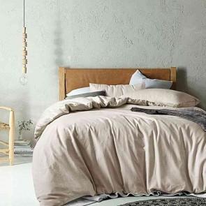 Vintage Wash Linen/Cotton Quilt Cover Set by Accessorize