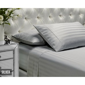 Viva Stripe 1000 TC Silver Sheet Set