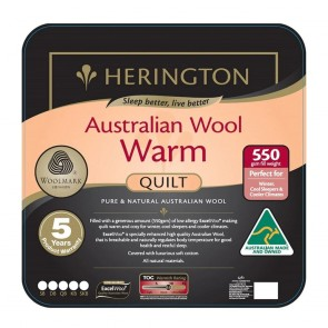 Warm Wool Super King Quilt by Herington