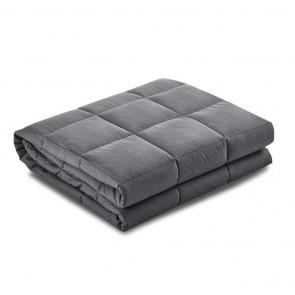 Weighted Blanket Microfibre Cover Glass Beads Calming Sleep Anxiety Relief Grey