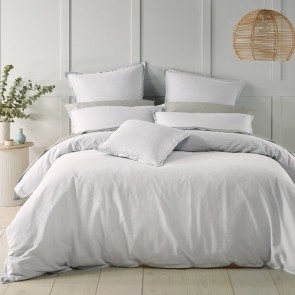 White Wellington Quilt Cover Set by Bianca