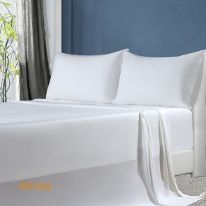 White 100% Natural Bamboo Sheet Set