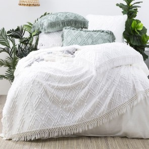 Medallion 100 % cotton Vintage washed Tuffted Bed Cover