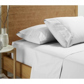 Vintage Washed Cotton White Sheet Set by Accessorize