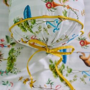 White Singerie Cotton Roll Cushion by Pip Studio