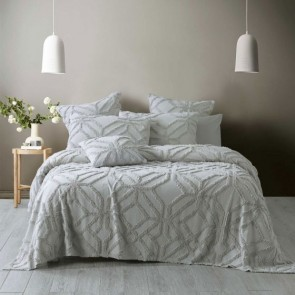 Willow Coverlet Set Silver by Bianca