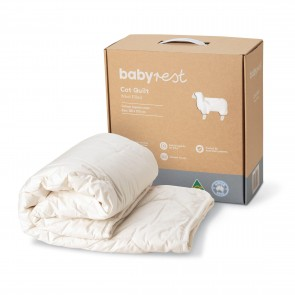 Wool Filled Cot Quilt by Babyrest