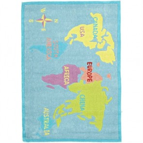 World Map Kids Rug by Unitex