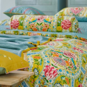 Yellow Melody Cotton Percale Quilt Cover Set by Pip Studio