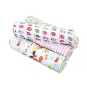 Zutano - Walk in the Park 4-pack Muslin Swaddles - Aden by Aden and Anais