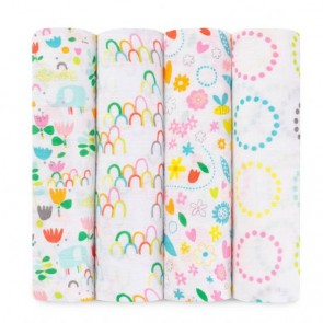 Zutano - Fairground 4-pk Classic Swaddle by Aden and Anais