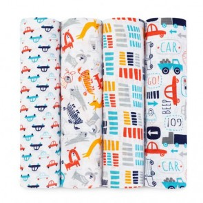 Zutano - Pup in Tow 4-pk Classic Swaddle by Aden and Anais