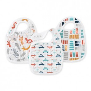 Zutano - Pup In Tow Classic 3-pk Snap Bibs by Aden and Anais
