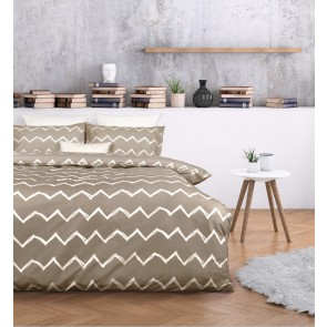 Zachary Taupe Quilt Cover Set by Essentially Home Living