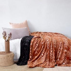 Zuni Ultraplush Blanket Midnight by Bambury