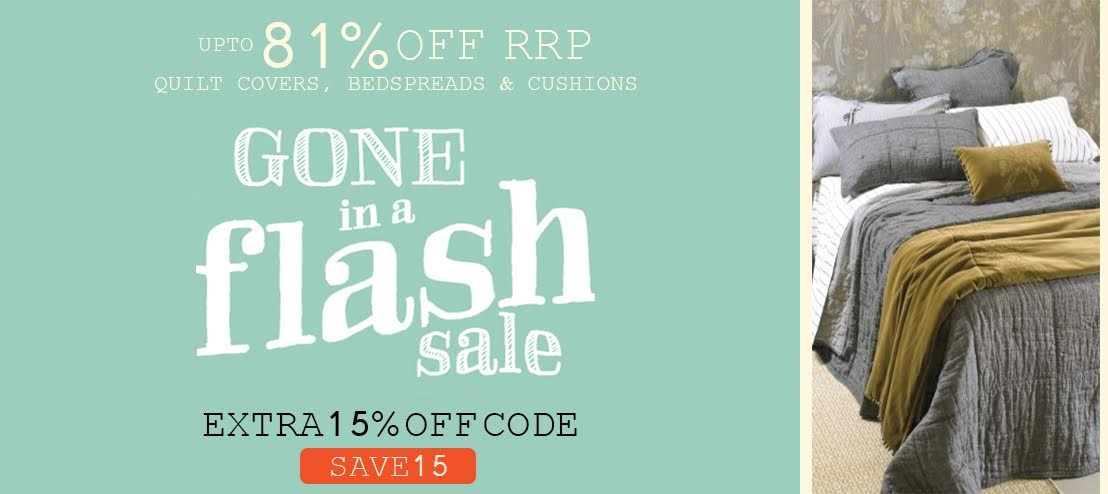 15% off flash sale